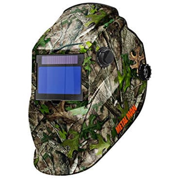 AOC8735SGC Big Window 8735 Auto Darkening Welding Helmet - Purple/Green Flame