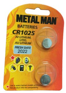 Metal Man MMCR1025R - Replacement CR1025 Battery (2 Pack)