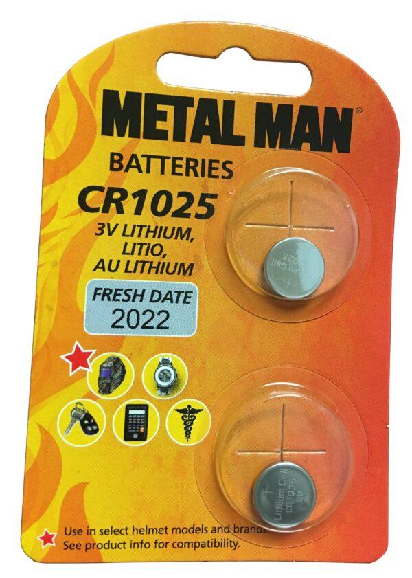 Metal Man MMCR1025R - Replacement CR1025 Battery (2 Pack)