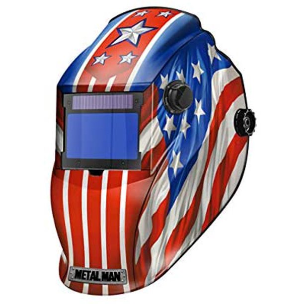 APA8735SGC Big Window 8735 Auto Darkening Welding Helmet - Patriotic