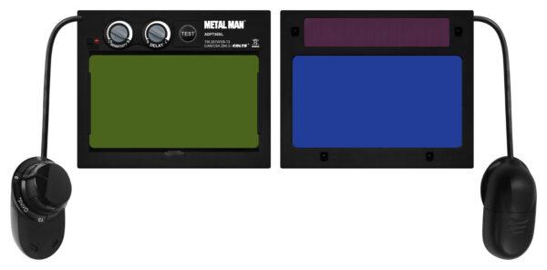 AOC8735SGC Big Window 8735 Auto Darkening Welding Helmet - Purple/Green Flame