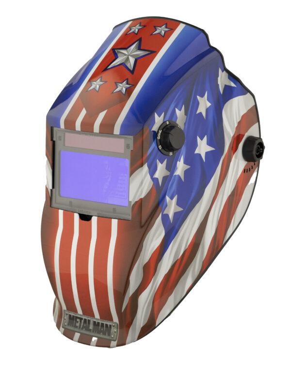 APA8735SGC-R Big Window 8735 Auto Darkening Welding Helmet - Patriotic