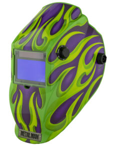APG8735SGC Big Window 8735 Auto Darkening Welding Helmet - Purple/Green Flame